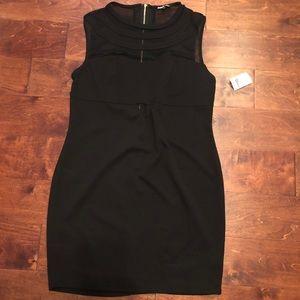 NWT Black Dress W/ Mesh Cut-outs - Size 1X